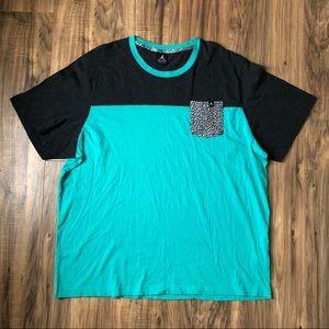 Jordan Pocket T Shirt 3XL XXXL Teal Gray